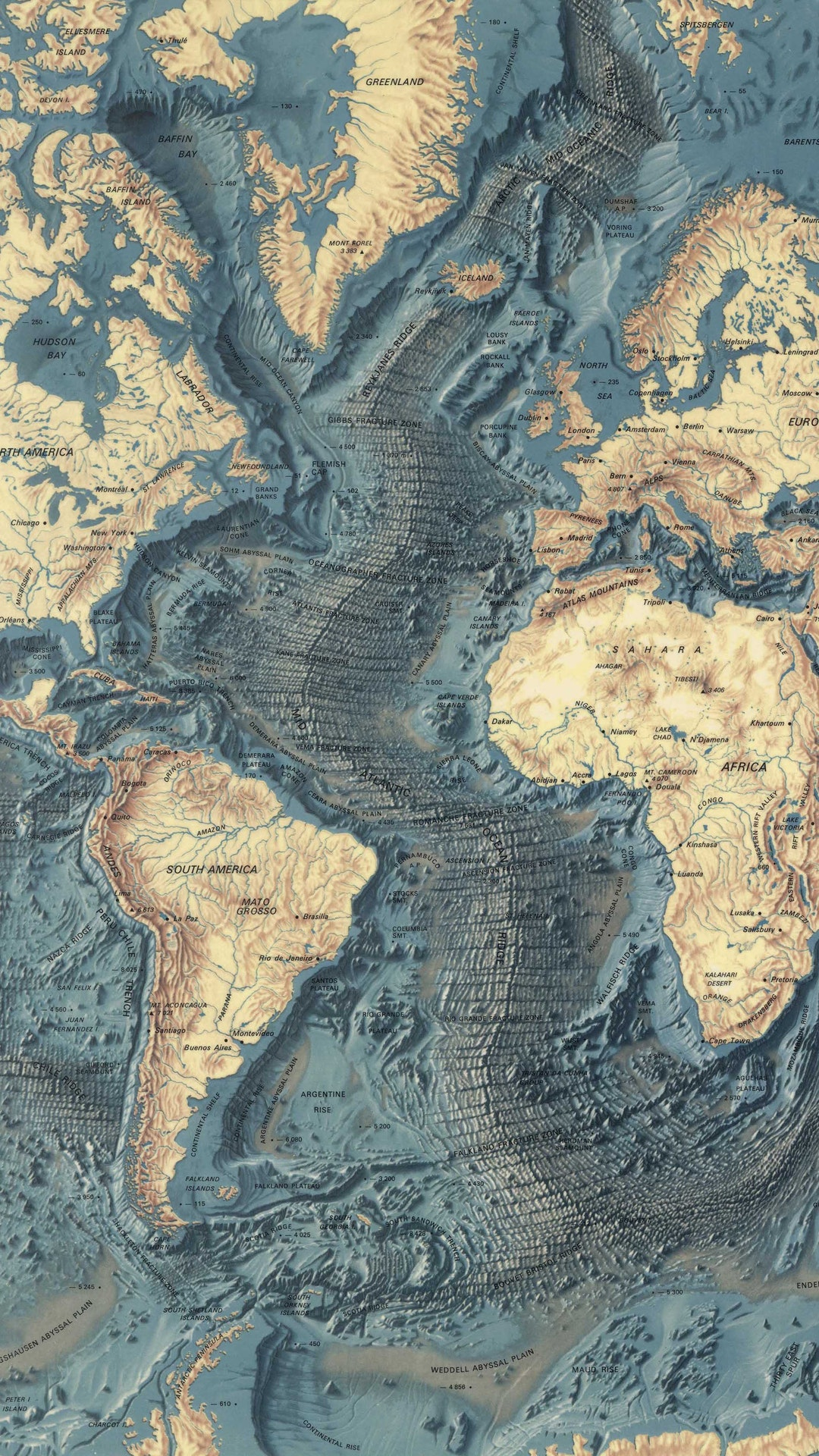 World ocean floor map by bruce heezen marie tharp electric objects gumiabroncs Choice Image